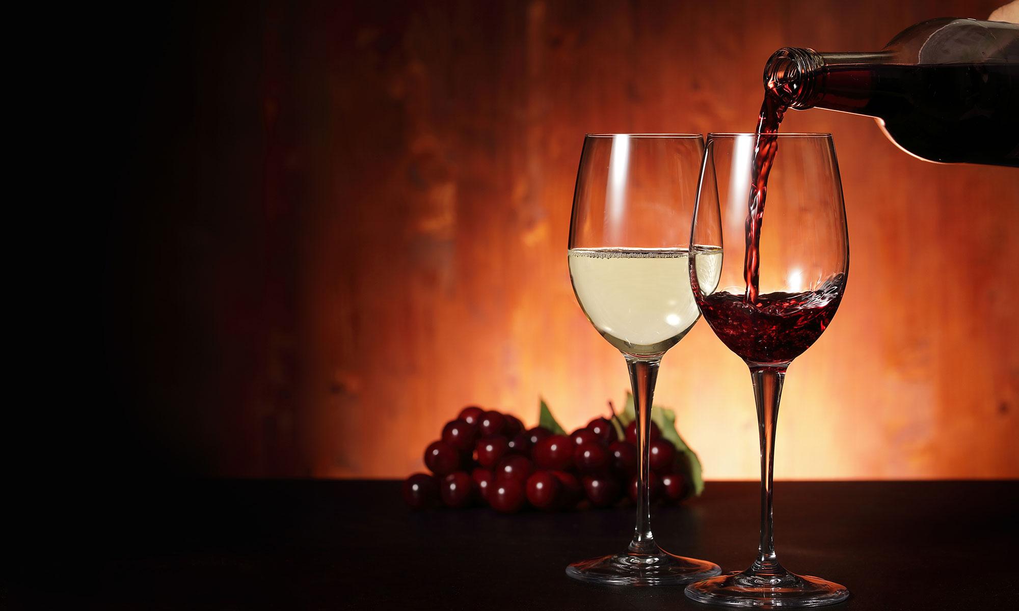 今宵ワインを飲みながら